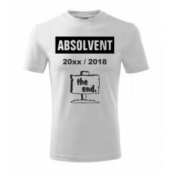Absolvent s rokem začátku a konce  - pánské tričko pro absolventy