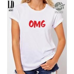 Dámské tričko s potiskem OMG