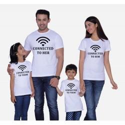 Wifi - connected to Them - Dětské tričko s potiskem Wifi připojen k rodičům