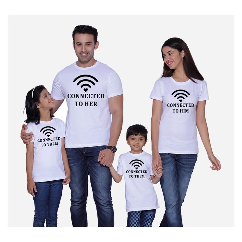 4d05626ec6 Wifi - connected to Them - Dětské tričko s potiskem Wifi připojen k rodičům