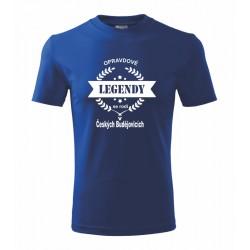 Opravdové Legendy se rodí v  Českých Budějovicích - Pánské tričko s potiskem o Českých Budějovicích