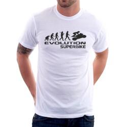 Pánské tričko s vtipným potiskem evoluce superbike