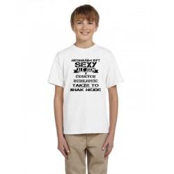 Dětské triko Nesnáším být sexy, ale jsem z Českých Budějovic, takže to jinak nejde