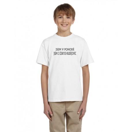 Dětské triko Jsem v pohodě, jsem z Českých Budějovic