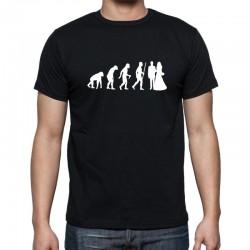 Evolution Manželství - Pánské Tričko s vtipným potiskem