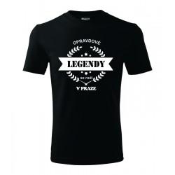 Pánské triko Opravdové legendy se rodí v Praze