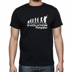 Pánské tričko s vtipným potiskem Evoluce fotograf