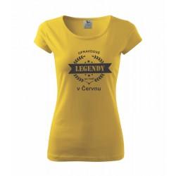 Opravdové legendy se rodí v  - Dámské tričko vhodné jako dárek