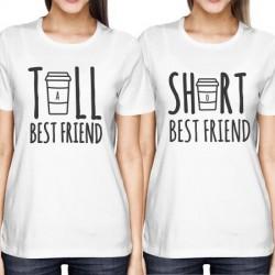 Short Bestfriend, dámské dárkové tričko pro nejlepší kamarádku.