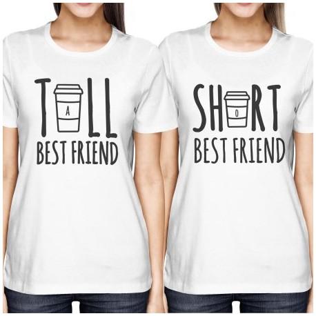 Tall Bestfriend, dámské dárkové tričko pro nejlepší vyšší kamarádku.