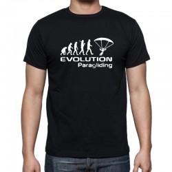 Pánské tričko evoluce paragliding