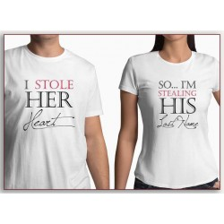 So... I´m stealing his last name, tak já ukradnu jeho příjmení. Dámské tričko pro budocí manželku
