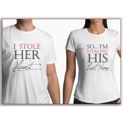 I stole her Heart, ukradl jsem její srdce. Pánské tričko pro bodoucího ženicha.
