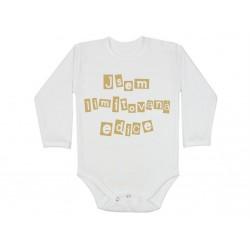 Kojenecké body, kojenecké oblečení s nápisem: Jsem limitovaná edice. Dárkové bodíčko pro miminko,