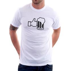 Like Beer - Pánské Tričko s vtipným potiskem