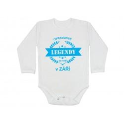 Body pro kojence narozené v září. Bodýčko s potiskem opravdové legendy se rodí v září