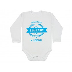 Body pro kojence narozené v lednu. Bodýčko s potiskem opravdové legendy se rodí v lednu