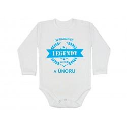 Body pro kojence narozené v únoru. Bodýčko s potiskem opravdové legendy se rodí v únoru