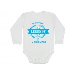 Kojenecké body pro miminka narozená v březnu bodýčko s potiskem opravdové legendy se rodí v březnu