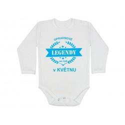 Kojenecké body pro miminka narozená v květnu. Bodýčko s potiskem opravdové legendy se rodí v květnu