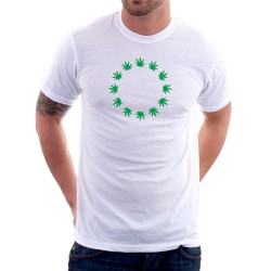 Marihuana Euro Znak - Pánské Tričko s vtipným potiskem