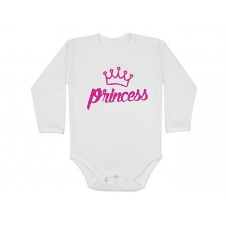 Kojenecké body pro holčičku s potiskem princezna.