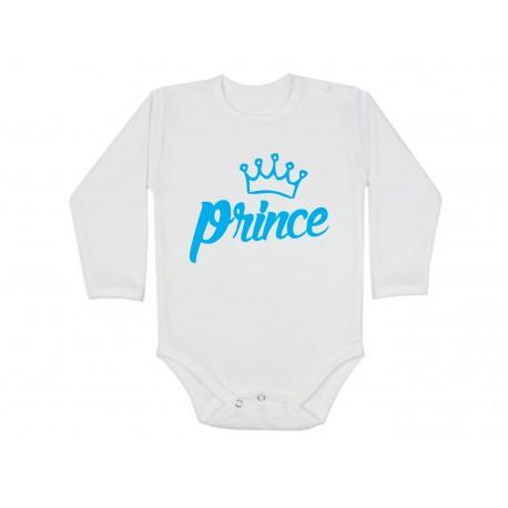 Kojenecké body  s nápisem: Princ, Prince. Bodýčko pro vašeho malého Prince. Dětské bodýčko s originálním nápisem pro chlapečka.