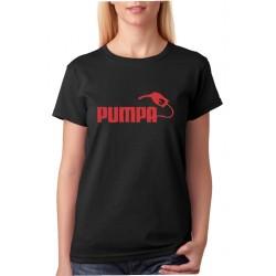 Dámské tričko PUMPA s potiskem v červené barvě