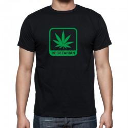 Vegetarián Marihuana - Pánské Tričko s vtipným potiskem