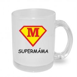 Hrníček s potiskem Super Máma ve znaku supermana, dárek pro mámu