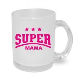 Dárek pro Maminku hrníček Super máma v růžové barvě