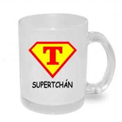 Dárek pro Tchána. Super tchán ve znaku supermana v kombinaci červená a žlutá
