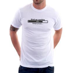 Pánské tričko s vtipným potiskem - Prd se načítá