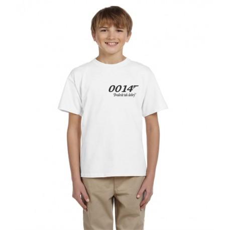 tričko pro kluka, který je dva krát leoší než agent 007, dárek pro kluka