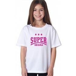 Dárek pro malou sestru tričko s potiskem super sestra, dárek pro sourozence