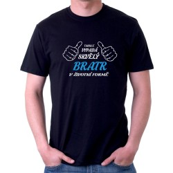 Pánské tričko Takhle vypadá skvělý bratr v životní velikosti.