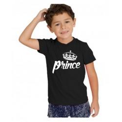 Dětské tričko s potiskem prince a korunkou krále, dárek pro kluka