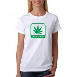 Dámské tričko Vegetarian Marihuana