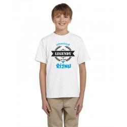 Dětské tričko s potiskem opravdové legendy se rodí v říjnu, dárek pro kluky narozené v říjnu