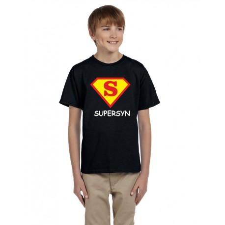 Dárek pro syna, tričko s potiskem supersyn ve znaku supermana