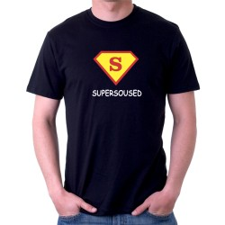 Dárek pro souseda. Vtipné tričko s potiskem Super soused ve znaku supermana