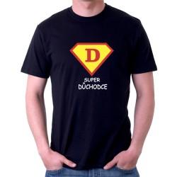 Dárek pro důchodce. Vtipné tričko s potiskem Super důchodce ve znaku supermana