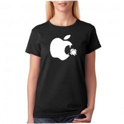 Apple Vs Android - Dámské Tričko s vtipným potiskem