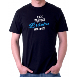 100% nejlepší Brácha na světě - Dárkové pánské tričko pro bratra jako dárek
