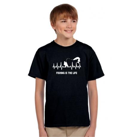 Dárek pro kluky, tričko s potiskem Fishing is the life