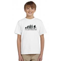 Dárek pro kluky, tričko s potiskem - Evoluce cyklistu