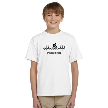 Dárek pro kluky, tričko s potiskem - Cycling is the life