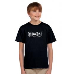 Dárek pro kluky, tričko s potiskem - Eat, sleep, cycling