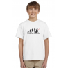 Dárek pro kluky, tričko s potiskem - Evolution dark side