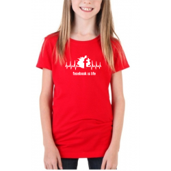 Dětské triko s potiskem - Facebook is life